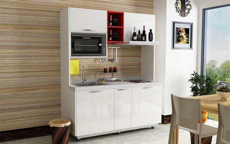 移动厨柜系列—M004 白溪